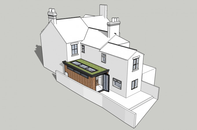 Green Roof Kitchen Extension